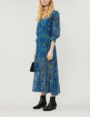 The Kooples Floral-print chiffon maxi dress