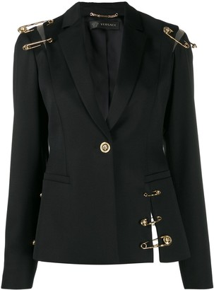 Versace Safety Pin Details Blazer