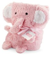 Mud Pie Blanket Buddies Pink Elephant