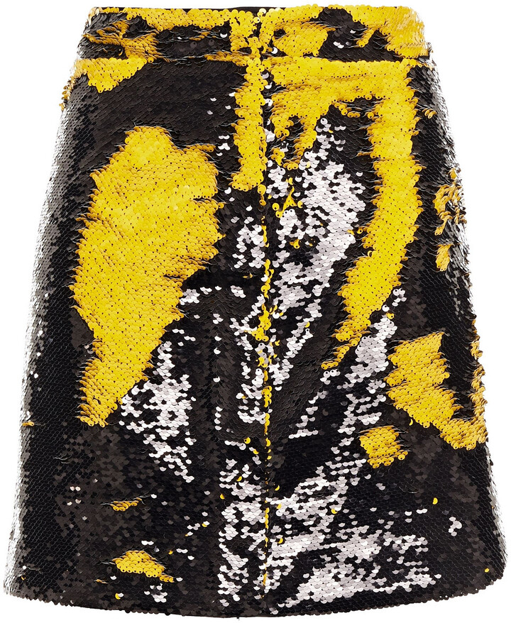 Thumbnail for your product : Ganni Sequined Woven Mini Skirt