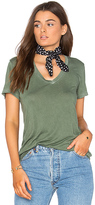 Cotton Citizen The Mykonos V Neck Tee in Sage. - size S (also in XS)