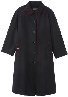 Vanessa Seward X La Redoute Collections Long Wool Mix Coat with Single-Breasted Buttons and Pockets