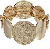 Dana Buchman Textured Circle Stretch Bracelet