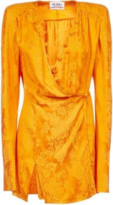 ATTICO Roses-motif Jacquard Mini Dress