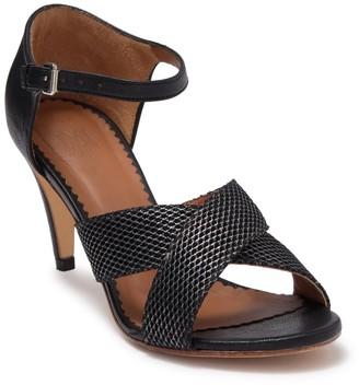 Missoni Crisscross Leather Slim Heel Sandal