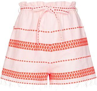 Lemlem Jemari tie waist striped shorts