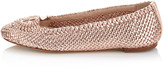 Joan and David Emilie Woven Flat, Rose Golden