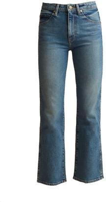KHAITE Vivian Flare Mid-Rise Boot Cut Jean