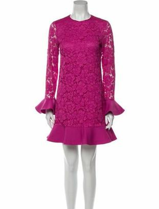 Valentino Lace Pattern Mini Dress Pink