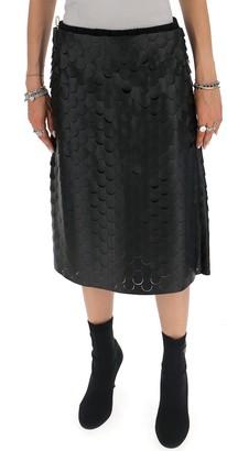 Bottega Veneta Scallopped Midi Skirt