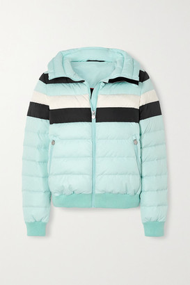 Perfect Moment Queenie Padded Striped Ski Jacket - Sky blue