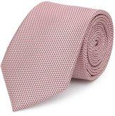 Reiss Bistel - Fleck-detail Silk Tie in Pink, Mens