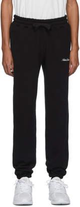 Leon Aime Dore Black Terry Logo Lounge Pants