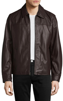 Cole Haan Solid Lamb Leather Jacket