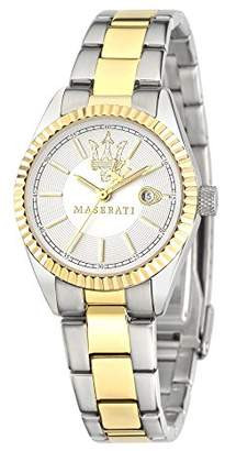 Three Hands Maserati Women's Watch, Competizione Collection, Quartz Movement, Version with Date, Stainless Steel and Gold pvd Watch - R8853100505