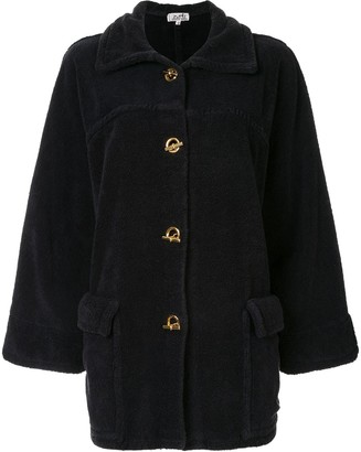 Hermes Pre-Owned Toggle-Fastening Boxy Coat