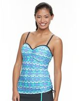 Free Country Women's Printed Ruched Tankini Top