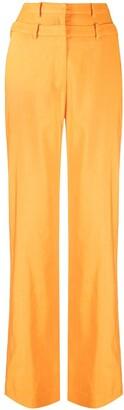 REJINA PYO Layered-Waistband Wide-Leg Trousers
