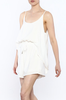essue White Sleeveless Romper