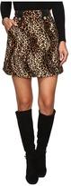 House of Holland Velvet Leopard Mini Skirt