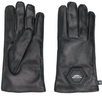 Philipp Plein Logo Plaque Gloves