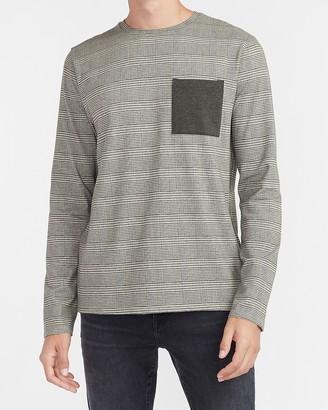Express Plaid Moisture-Wicking Performance Pocket T-Shirt