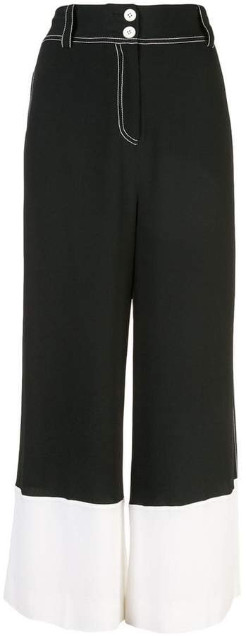 Derek Lam 10 Crosby Wide Leg Culotte with Contrast Cuff