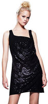 Love Label Leather Look Sequin Dress