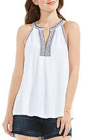 Vince Camuto Two By Embroidered Halter Tank