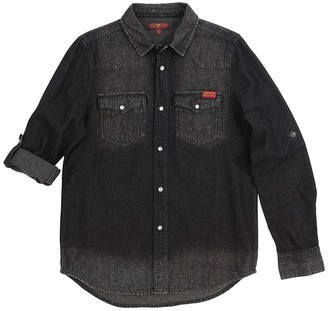 7 For All Mankind Long Sleeve Western Shirt (Little Boys)