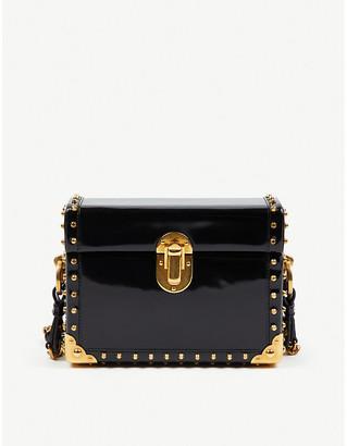 Selfridges Prada box leather cross-body bag