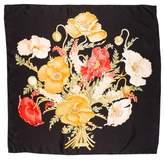Salvatore Ferragamo Silk Floral Print Scarf