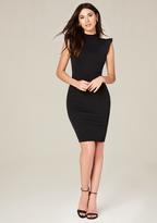 Bebe Ruffle Sleeve Dress