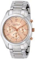 Bulova Caravelle New York by Women's 45L143 Analog Display Japanese Quartz White Watch