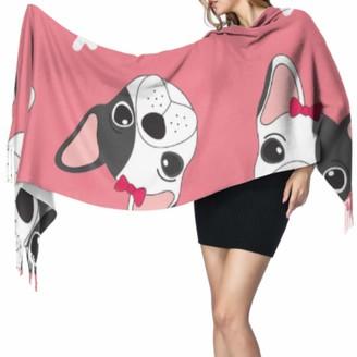 Yushg Funny Smart Cute Animal Pet Bulldog Light Cashmere Scarf Girls Wrap Shawl Wrap Shawl Wrap 77x27inch/196x68cm Large Soft Pashmina Extra Warm