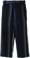 Sacai Mexican stripe trousers - men - Cotton/Rayon - 1