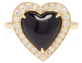 Anissa Kermiche Black Heart Diamond, Onyx & 14kt-gold Ring - Gold