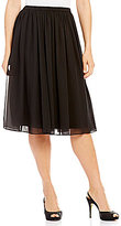 Alex Evenings Petite Midi Chiffon Skirt