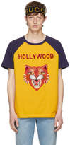 Gucci Yellow and Blue Hollywood Tiger T-Shirt