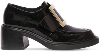 Roger Vivier 60mm Viv Rangers Patent Leather Loafers