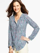 Talbots Country Tweed Blouse