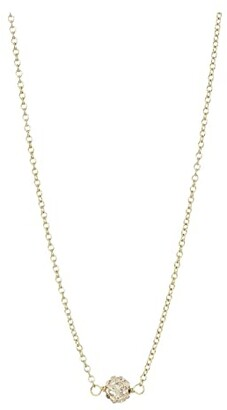 Dogeared Wishing Necklace, Pave Sparkle Ball Necklace (Gold) Necklace