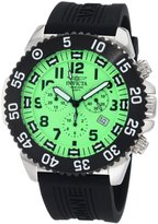 Invicta Men's 1104 Pro Diver Chronograph Dial Black Rubber Watch