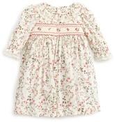 Luli & Me Infant Girl's Floral Print Plumetis Smocked Dress