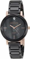 Anne Klein Women's AK/3364LPRG Diamond-Accented Rose Gold-Tone and Light Pink Ceramic Bracelet Watch