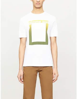 BOSS Graphic-print cotton-jersey T-shirt