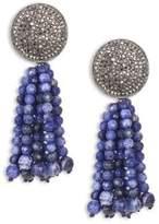 Nest Sodalite Tassel Earrings