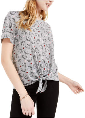 Love Tribe Juniors' Taco Tie-Front T-Shirt