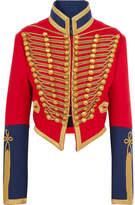 Burberry Embellished Wool-felt Jacket - Red