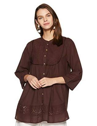 Wild Hazel Women's Cotton Beautiful Embroidery Work Tops | Tunic | Kurta